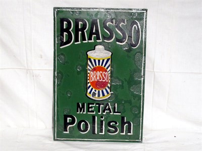 Lot 16-'Brasso Metal Polish' Small-Format Pictorial Enamel Advertising Sign (R)