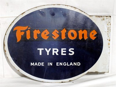 Lot 18-'Firestone Tyres' Enamel Advertising Sign (R)