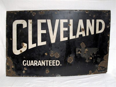 Lot 19-'Cleveland Guaranteed' Enamel Advertising Sign (R)