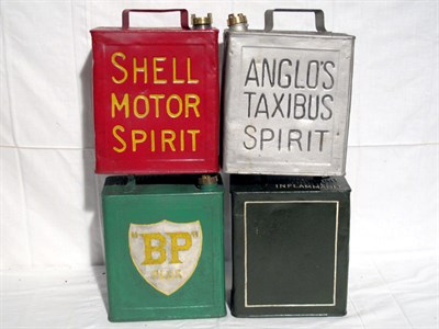 Lot 20-Four Restored 2-Gallon Petrol Cans (R)