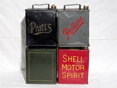 Lot 21-Four Restored 2-Gallon Petrol Cans (R)