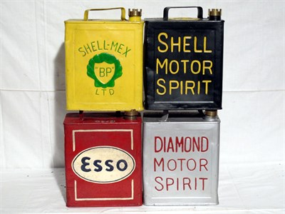 Lot 22-Four Restored 2-Gallon Petrol Cans (R)