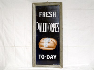 Lot 24-'Palethorpes Sausages' Pictorial Enamel Advertising Sign (R)
