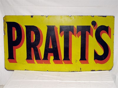 Lot 25-'Pratts' Enamel Advertising Sign (R)