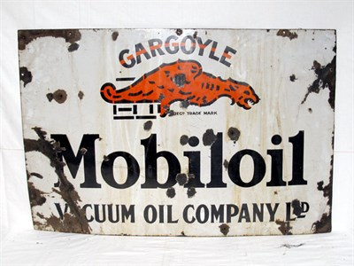 Lot 27-'Mobiloil Gargoyle Vacuum Oil Co.' Enamel Advertising Sign (R)