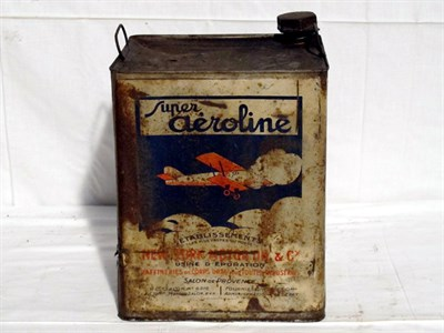 Lot 28-Large 4-Gallon Pictorial Oil Can (R)