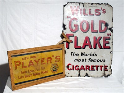 Lot 35-'Player's Cigarettes' Hanging Advertising Banner (R)