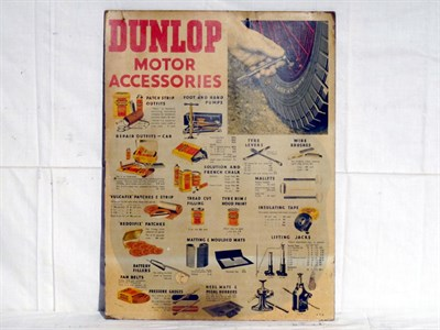 Lot 40-'Dunlop Motor Accessories' Pictorial Card Advertising Sign (R)