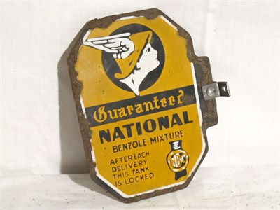 Lot 41-'National Benzole' Small-Format Pictorial Enamel Petrol Pump Sign (R)