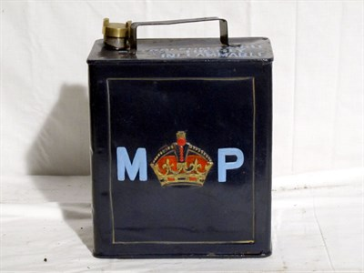 Lot 44-Restored 2-Gallon Petrol Can (R)