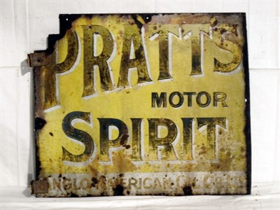 Lot 49-'Pratts Motor Spirit' Enamel Advertising Sign (R)