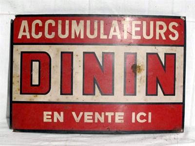 Lot 52-'Dininin Accumulators' Lithograph Tin Advertising Sign (R)