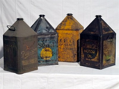 Lot 55-Four 5-Gallon Oil Cans (R)