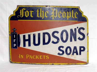 Lot 56-'Hudson's Soap' Pictorial Enamel Advertising Sign (R)