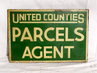 Lot 57-'United Counties Parcel Agents' Enamel Advertising Sign (R)