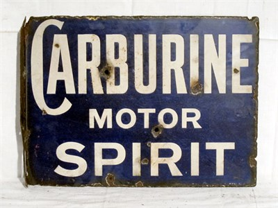 Lot 58-'Carburine Motor Spirit' Enamel Advertising Sign (R)