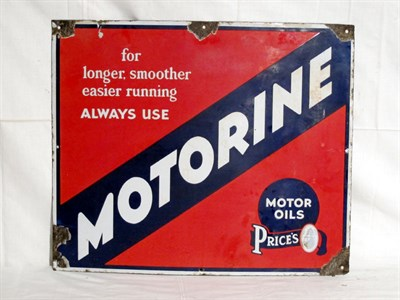 Lot 60-'Price's Motorine' Enamel Advertising Sign (R)