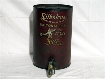 Lot 61 - 'Silkolene Lubricants' Pictorial Oil Drum (R)