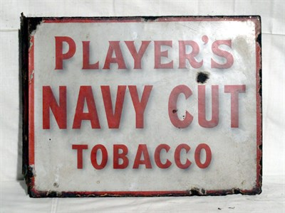 Lot 64-'Player's Navy Cut Cigarettes' Enamel Advertising Sign (R)