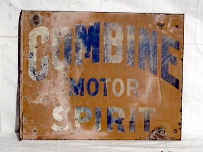 Lot 68-'Combine Motor Spirit' Enamel Advertising Sign (R)