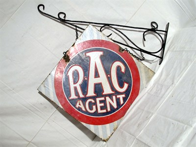 Lot 72-'R.A.C. Agent' Enamel Advertising Sign (R)