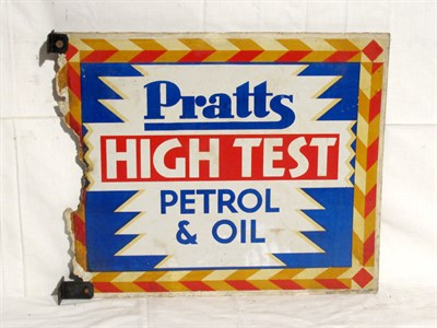 Lot 73-'Pratts High Test' Enamel Advertising Sign (R)