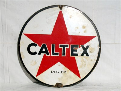 Lot 78-'Caltex' Circular Enamel Advertising Sign (R)