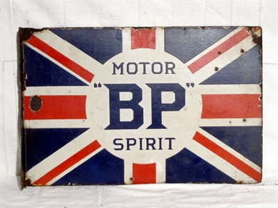 Lot 79-'BP Motor Spirit' Enamel Advertising Sign (R)
