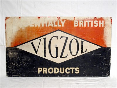 Lot 80-'Vigzol' Lithograph Tin Advertising Sign (R)