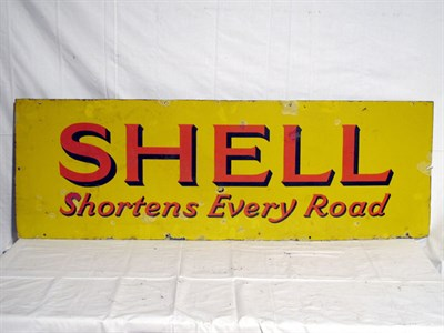 Lot 81-'Shell Shortens Every Road' Enamel Advertising Sign (R)