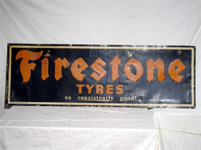 Lot 83-'Firestone Tyres' Lithograph Tin Advertising Sign (R)