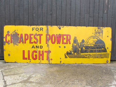 Lot 84-'Ruston Hornsby Generators' Large-Format Pictorial Enamel Sign (R)
