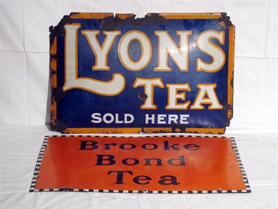 Lot 90-Two Enamel Advertising Signs (R)