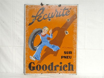 Lot 92-'Goodrich Tires' Securite Enamel Sign (R)