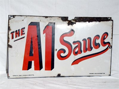 Lot 93-'A1 Sauce' Enamel Advertising Sign (R)