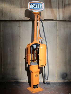 Lot 97-Hand-Operated Gilbert & Barker 'Fat Lady' Petrol Pump (R)