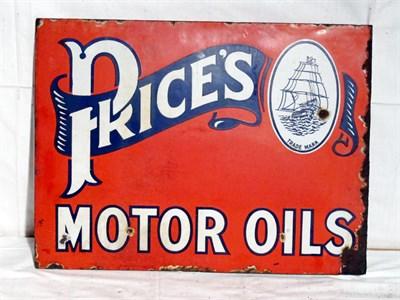 Lot 99 - 'Prices Motor Oil' Enamel Advertising Sign (R)