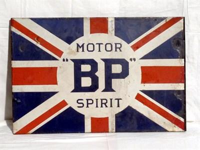 Lot 2 - 'BP Motor Spirit' Enamel Advertising Sign