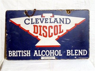 Lot 5-'Cleveland Discol' Pictorial Enamel Advertising Sign