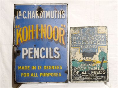 Lot 10-'Blue Cross Balanced Nations' Pictorial Tin Advertising Sign