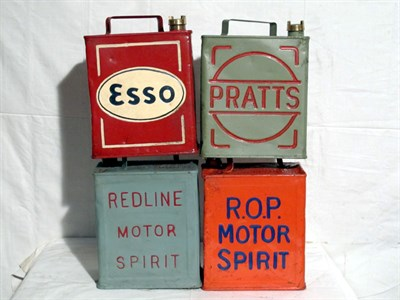 Lot 13-Four Restored Two-Gallon Petrol Cans