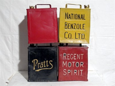 Lot 14-Four Restored Two-Gallon Petrol Cans