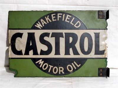 Lot 17 - 'Castrol Wakefield' Enamel Advertising Sign