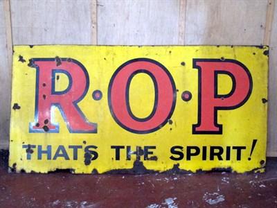 Lot 19 - 'ROP - Thats The Spirit' Enamel Advertising Sign