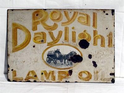 Lot 20 - 'Royal Daylight Lamp Oil' Enamel Advertising Sign