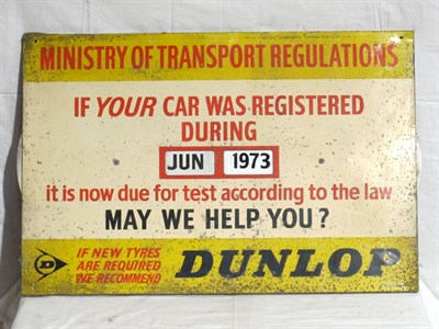 Lot 21-'Ministry Of Transport' Advertising Sign