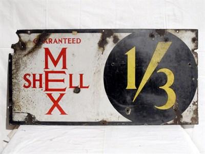 Lot 22 - 'Guaranteed Shellmex' Enamel Advertising Sign