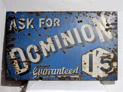 Lot 27-'Dominion' Enamel Advertising Sign