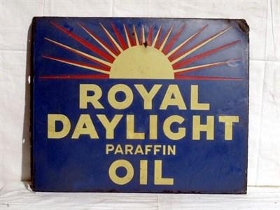 Lot 29 - 'Royal Daylight Oil' Enamel Advertising Sign