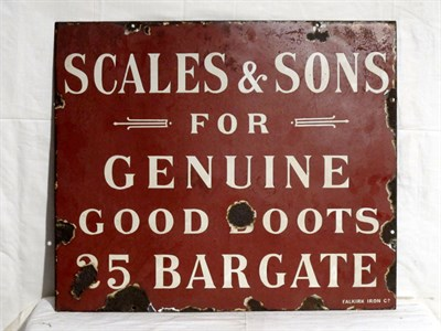 Lot 31-'Scales and Sons' Enamel Advertising Sign